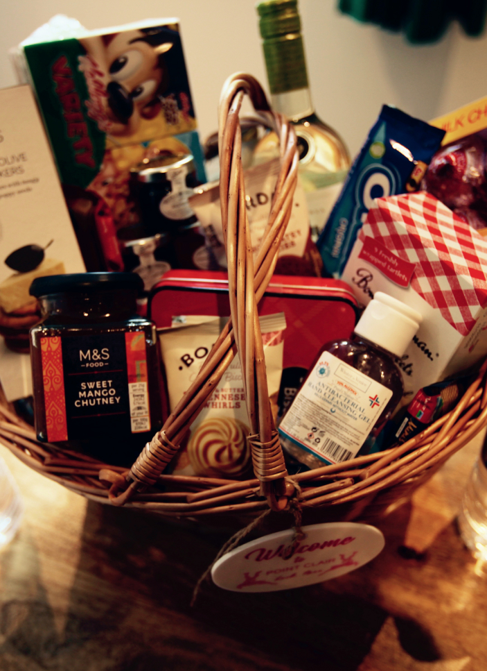 Gift food hamper at Point Clair House